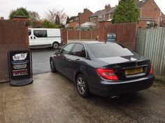 2013 Mercedes C220 in this morning for 18% carbon tints to the rear.