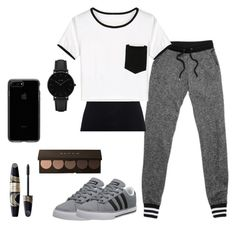 """""""Rian"""" by shoppingismycardio99 ❤ liked on Polyvore featuring adidas NEO, Juvia, WithChic, Max Factor and CLUSE"""