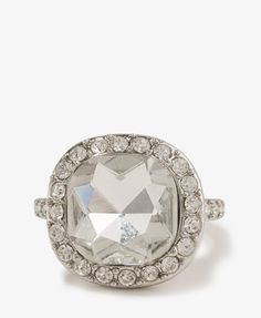 Faceted Rhinestone Trim Ring | FOREVER 21 - 1044832834