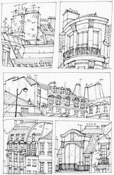 Quelques bâtiments á Paris