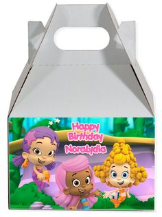 World of Pinatas - Bubble Guppies Girls Personalized Gable Box (set of 6), $11.99 (http://www.worldofpinatas.com/bubble-guppies-girls-personalized-gable-box-set-of-6/)