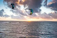 Kitesurfing in Porto Botte, Sardinia