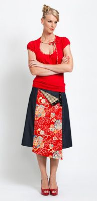 maiocchi skirt, would love to do this with lime circle fabric.