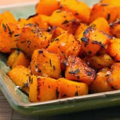 Roasted Butternut Squash with Lime and Rosemary; how could that help but taste amazing?
