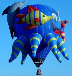 It always looks nice and interesting when we see air balloon, but those balloons are awesome. Air Ballon, Hot Air Balloon, Air Balloon Festival, Balloon Rides, Helium Balloons, Photos Du, Under The Sea, Dinosaur Stuffed Animal, Drake