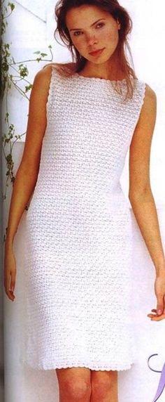 Вязание летнего платья крючком