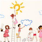 Tela blanca niños pintando de Michael Miller Make Believe