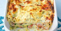 Es muss nicht immer Hackfleisch sein. Schinken gibt eine sehr würzige Note ab, die gut zu den Zucchini passt. Probieren Sie es aus!