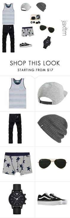 """Guys Summer Outfit"" by jaxftm on Polyvore featuring Vissla, RVCA, Outdoor Research, Topman, Emporio Armani, Vans, NOVICA, men's fashion, menswear and summerstyle"