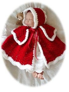 Baby Crochet Pattern Cape and Bonnet - Gabriella. $4.00, via Etsy.