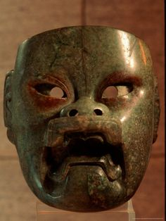 Olmec jade mask, Dumbarton Oaks Museum, Washington DC.