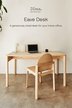 "We're turning the tables on the desk. Work time or meal time, Eave is a dual-purpose ""table-desk"" — making it the consummate multitasker. Home Office, Room Decor, Decor, Table Desk, Furniture, Table, Home, Home Decor, Desk"