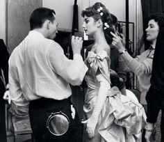 #Audrey Hepburn on the set of #Mayerling