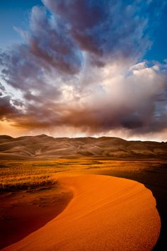 Storm over the Great Sand Dunes, Colorado.  Such a wide range of colors!