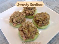 Swanky Sardines! Yes, this recipe makes sardines delicious! Simple and very healthy. Paleo! by www.AuNaturaleNutrition.com
