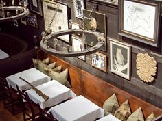 Art - just makes the space, even interior of restaurant