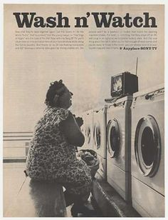 """Mobile Video: Sony 9"""" Anyplace TV Wash n' Watch Television (1965)  ...now we do this on our phones, tablets etc.......amazing that were this small back then!"""