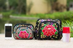 Floral Embroidery bag Chinese style women one-shoulder Messenger bags vintage small handbags purse wallet phone bag  #style #vintage #prohibition #fashion #life #bearded #beard #retro
