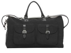 The functionality of a garment bag meets the ease of a carry-on in Hook and Albert's brilliant Garment Weekender bag.