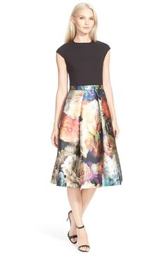 Ted Baker London 'Eana' Colorblock A-Line Dress available at #Nordstrom