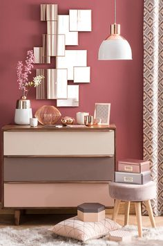 11 Cool Pink Bedroom Ideas That Can be Pretty - All Bedroom Design Home And Deco, Dream Decor, New Room, Wall Colors, Paint Colors, Home Decor Inspiration, Design Inspiration, Bedroom Decor, Bedroom Ideas