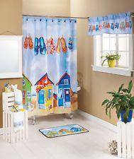Tropical Paradise Bath Collection Shower Curtain Hooks Soap Pump Bath Rug +  More  Flip Flop Shower Curtain