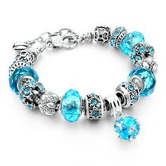 Szelam 2017 New Crystal Beads Bracelets Bangles Silver Plated Charm  Bracelets For Women Friendship Pulseras SBR160014 //Price: $19.00 & FREE Shipping //     #hashtag3