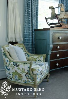 Love it all...chair, empire dresser and antique horse!