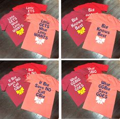 Big/Little/GBig/GGBig Family Saying Sorority Bow Comfort Colors Frocke – Campus Connection