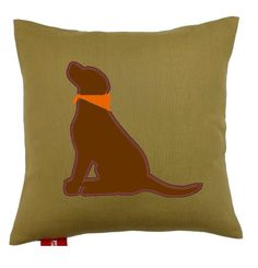 Lab lovers pillow in Black, Chocolate or Yellow.