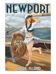 Newport, Rhode Island - Pinup Girl Sailing  #VisitRhodeIsland