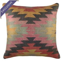 Burlap pillow with a Native American motif. Handmade in the USA.  Product: PillowConstruction Material: Burlap
