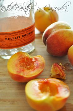 can eat these peaches on EVERYTHING | Bourbon Poached Peaches