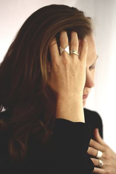 rebecca mir grady: rings made from recycled metals. handmade in chicago, il.