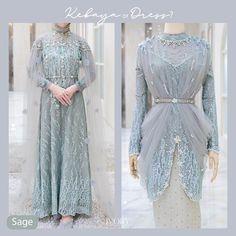 Kebaya Modern Hijab, Model Kebaya Modern, Kebaya Wedding, Muslimah Wedding Dress, Kebaya Dress, Dress Pesta, Batik Fashion, Hijab Fashion Inspiration, Pakistani Dress Design
