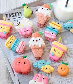 Delicious Desserts, Dessert Recipes, Yummy Food, Easy Desserts, Kreative Desserts, Cute Baking, Pretty Birthday Cakes, Macaron Cookies, Kawaii Dessert