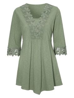Lace Patchwork V-neck Half Sleeve Women Blouses – Anton Florin Lace Patchwork V-neck Half Sleeve Women Blouses Lace Patchwork V-neck Half Sleeve Women Blouses Kurta Designs, Blouse Designs, Hijab Fashion, Fashion Dresses, Half Sleeve Women, Half Sleeves, Tunics Online, Blouse And Skirt, Dress Sewing Patterns