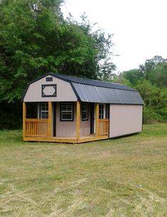 Derksen Portable Painted Deluxe Cabin with porch. Visit ...
