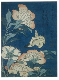 Japanese Prints Japanese Prints Peonies and Canary from the series 'Small Flowers', 1834 Katsushika Hokusai Fine Art Reproduction Japanese Bird, Japanese Flowers, Japanese Prints, Japanese Paper Art, Vintage Japanese, Art Antique, Antique Prints, Poster Art, Poster Prints