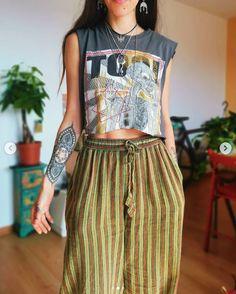 Look Boho, Bohemian Style, Hippie Outfits, Grunge Outfits, Look Fashion, Fashion Outfits, Womens Fashion, Looks Hippie, Looks Style