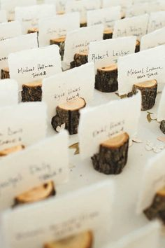 8 Winter Wedding Decor Trends You Can Plan for Now PLACE CARDS Place card holders for winter wedding! We can recreate this look for you!creativeambia… C Wedding Tips, Wedding Table, Diy Wedding, Wedding Ceremony, Rustic Wedding, Wedding Planning, Dream Wedding, Wedding Day, Wedding Blog