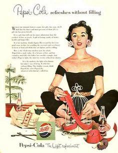 Pepsi Ads, 1950.  #history