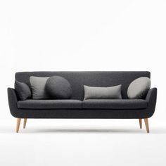 Morgan Soho Three Seat Sofa 563.  The Soho Collection of sofas and chairs is contemporary with echoes of 50s and 60s styling. Softened corners and a high back create an inviting, comfortable and distinctive form. A daybed version is also available and offers a luxurious seating option.