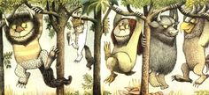 """""""The wild things roared their terrible roars and gnashed their terrible teeth and rolled their terrible eyes and showed their terrible claws but Max stepped into his private boat and waved goodbye.""""   RIP Maurice Sendak ♥"""