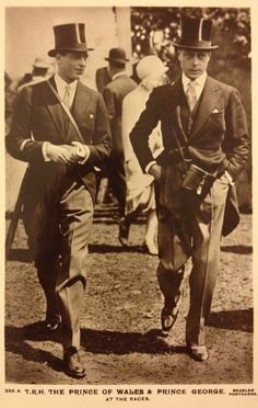 kingedwardviii: Edward VIII (right) and the Duke of Kent (left). Eduardo Viii, Edward Albert, English Monarchs, Wallis Simpson, Uk History, Royal Ascot, Queen Mary, Prince Of Wales, King George