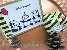 Stampin Up - Bewebung für die Schauwand OnStage - Stempelset Party-Pandas - Limette - Designerpapier Blütenfantasie♥ StempelnmitLiebe