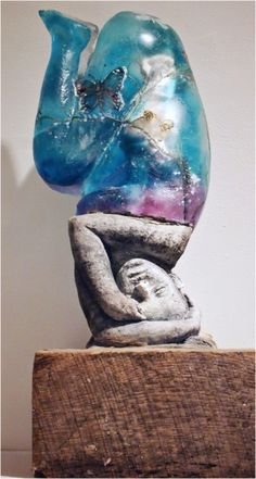 Christina Bothwell , SPRING  -   glass / mixed media  21 X 9 X 9 inches, made in: 2007