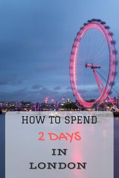 How to spend 2 days in London! This London itinerary sight-seeing guide takes in all the major attractions, and includes some tips on saving money along the way for your two day stay! Europe Travel Tips, Travel Goals, European Travel, Travel Destinations, Traveling Europe, Euro Travel, European Vacation, Travel Hacks, Travel Guides