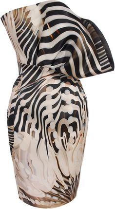 MARY KATRANTZOU, Strapless Fan Dress