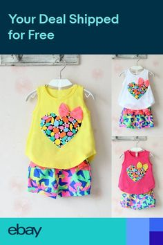 1bb281f4dd3 Toddlers Kids Baby Girls Summer Outfits Clothes Vest Tops+Beach Pants 2PCS  Sets - Toddlers Kids Baby Girls Summer Outfits Clothes Vest Tops+Beach  Pants 2PCS ...